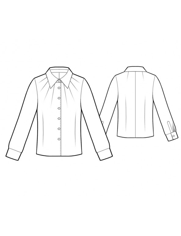 Fashion Designer Sewing Patterns - Pleated Neck Blouse
