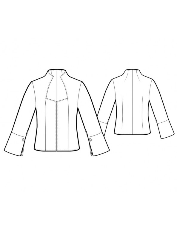 Fashion Designer Sewing Patterns - Fitted Elizabethan-Collared Blouse