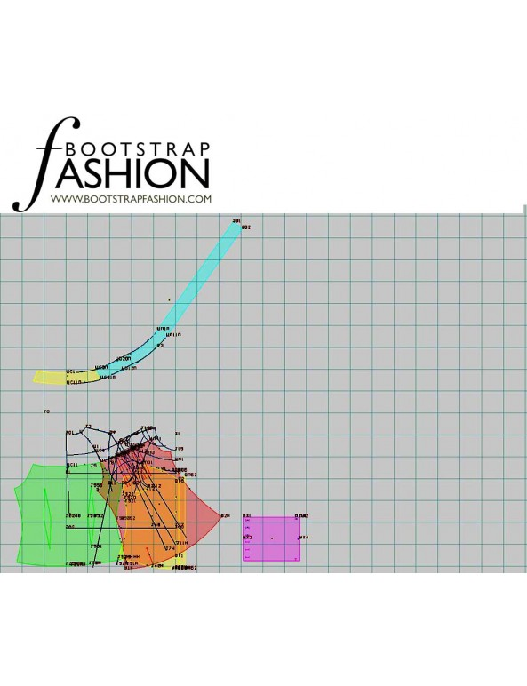 Fashion Designer Sewing Patterns - Off-the-Shoulder Tie-Front Button-Down Blouse