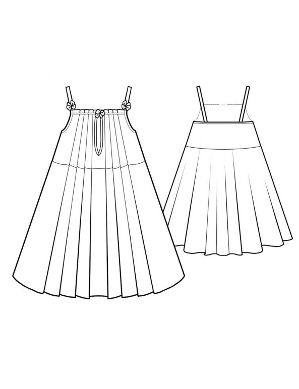 Fashion Designer Sewing Patterns - Chiffon Pintuck Chemise