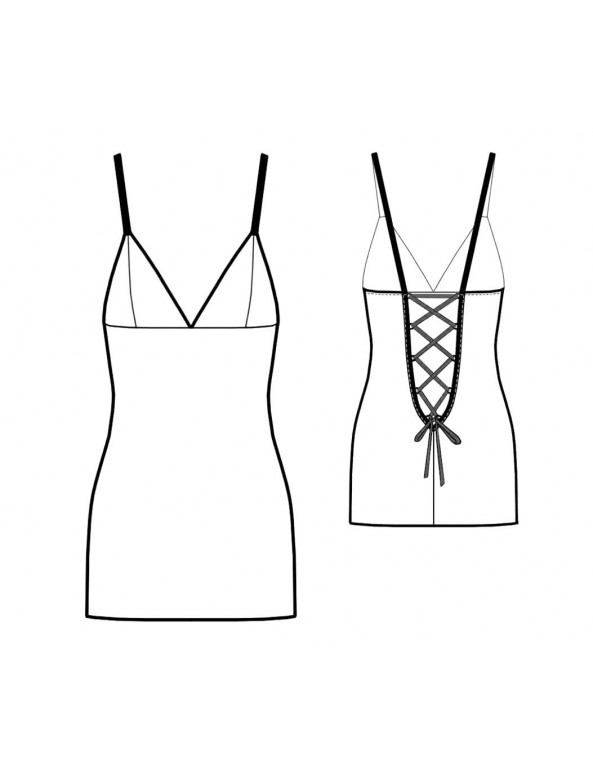 Fashion Designer Sewing Patterns - Lace-Up Back Slip