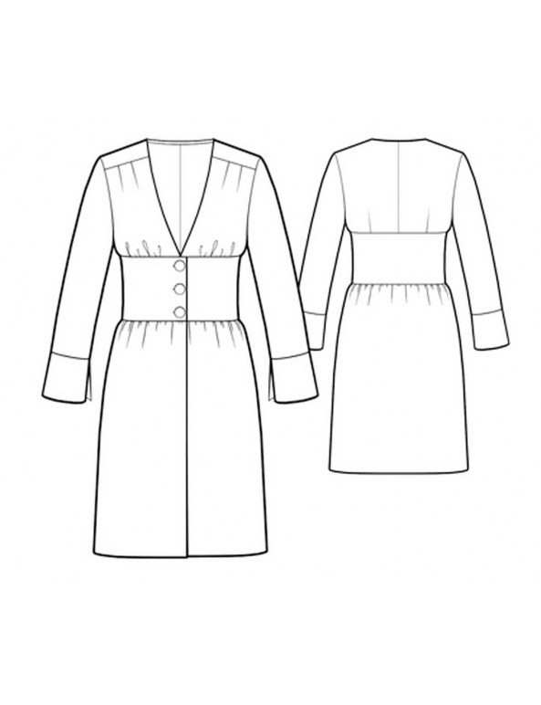 Fashion Designer Sewing Patterns - Cinched Waist Robe