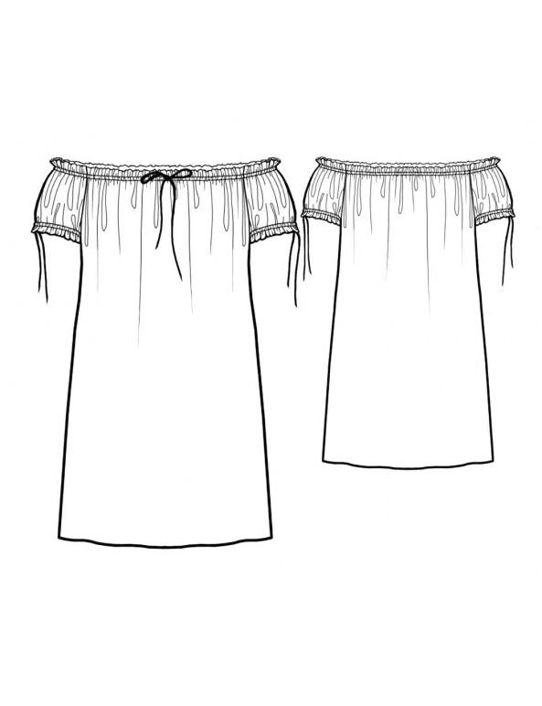 Fashion Designer Sewing Patterns - Carmen Style Nighty