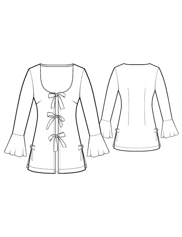 Fashion Designer Sewing Patterns - Bell Sleeves Robe