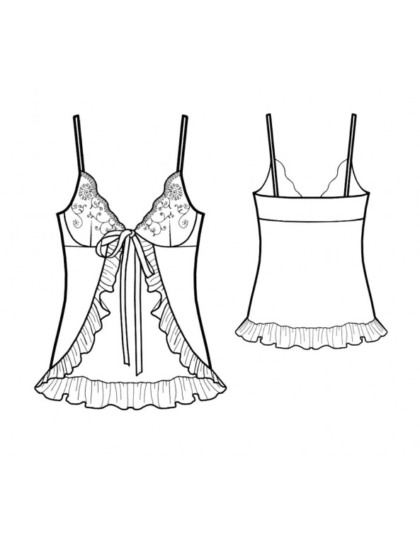 Fashion Designer Sewing Patterns - Flyaway Babydoll