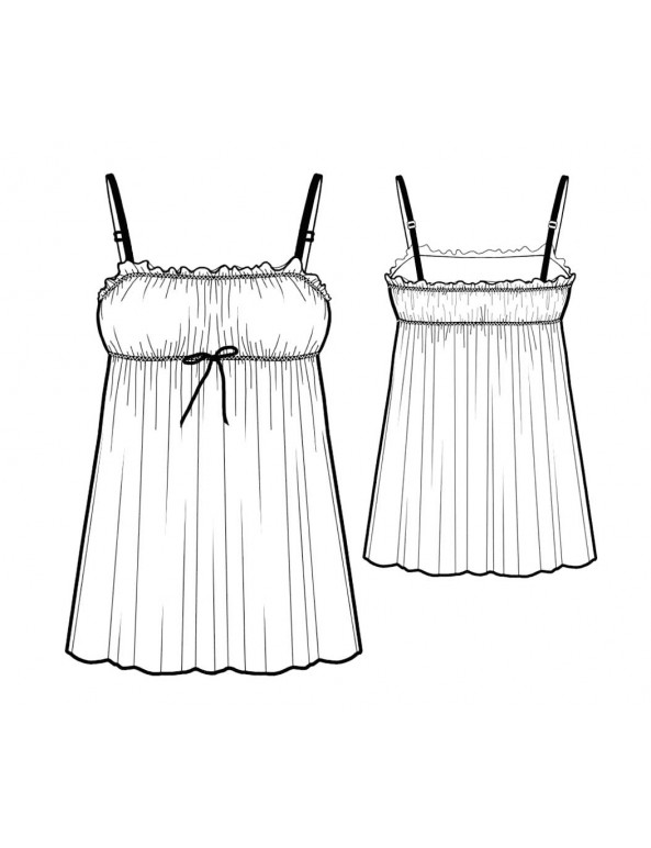 Fashion Designer Sewing Patterns - Ruched Front Chemise