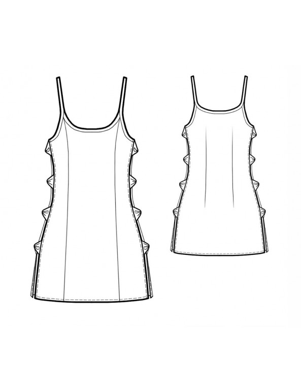 Fashion Designer Sewing Patterns - Open Sides Chemise