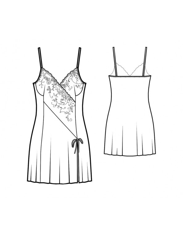 Fashion Designer Sewing Patterns - Contrast Inset Chemise