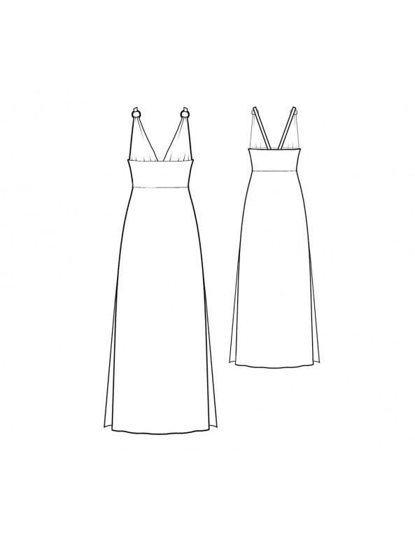 Fashion Designer Sewing Patterns - Side Slit Halter Nightgown