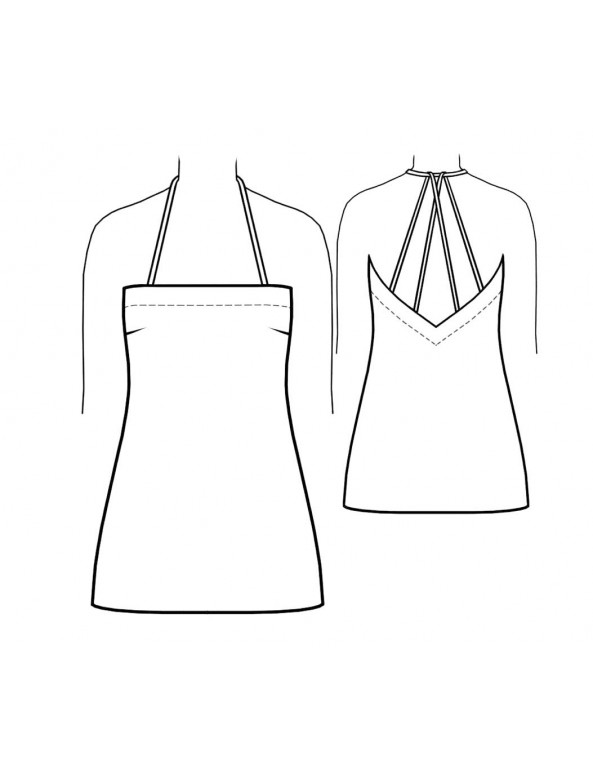Fashion Designer Sewing Patterns - Deep Back  V-neck Slip