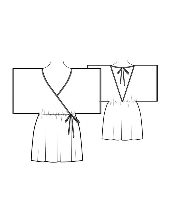 Fashion Designer Sewing Patterns - Short Kimono Robe