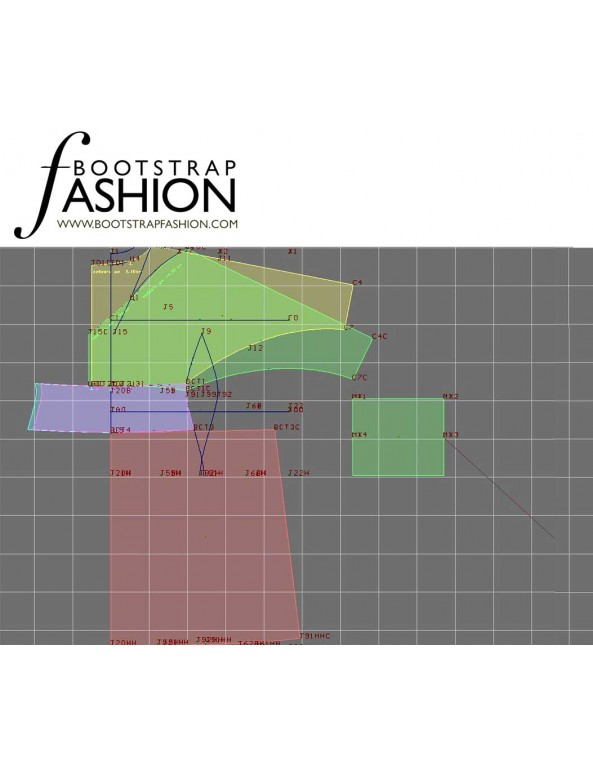 Fashion Designer Sewing Patterns - Dolman Sleeve Ruched Front Knit Dress