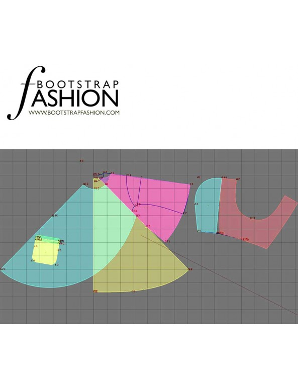 Fashion Designer Sewing Patterns - Cape With A Hood