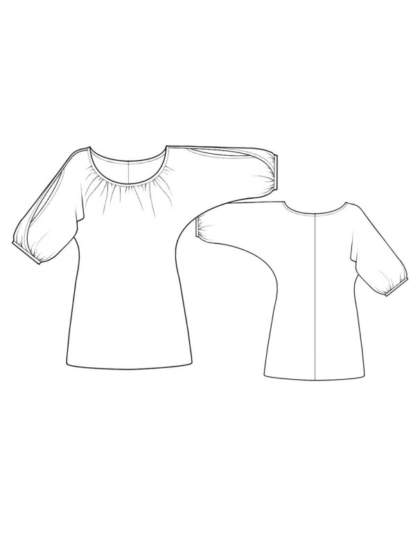 Fashion Designer Sewing Patterns - Trapeze Top With Split Sleeves