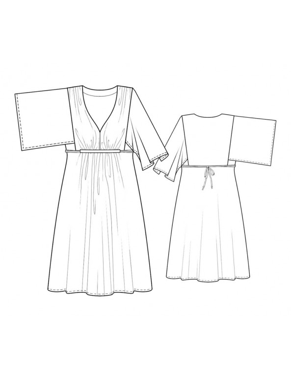 Fashion Designer Sewing Patterns - Kimono Sleeve Knit Dress