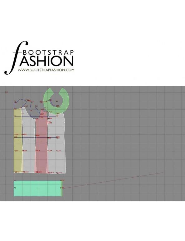 Fashion Designer Sewing Patterns - Collar-Neck Princess Shift