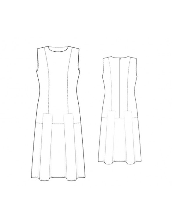 Fashion Designer Sewing Patterns - Sleeveless Round-Neck Princess Dress