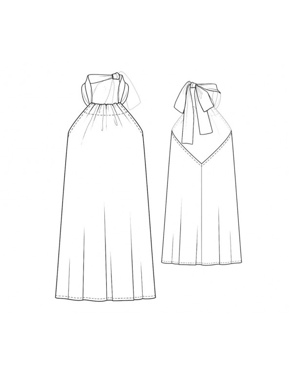 Fashion Designer Sewing Patterns - Tie-Neck Halter Dress