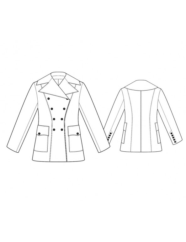 Fashion Designer Sewing Patterns - Short Drum Major-Style Jacket