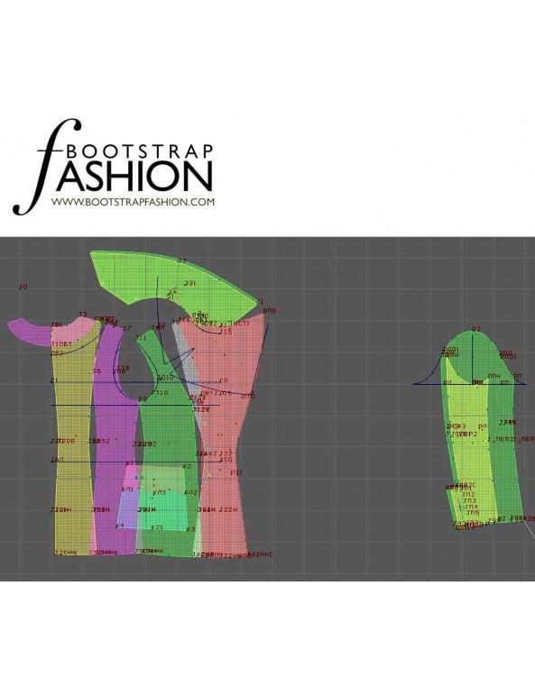Fashion Designer Sewing Patterns - Short Drum Major-Style Jacket