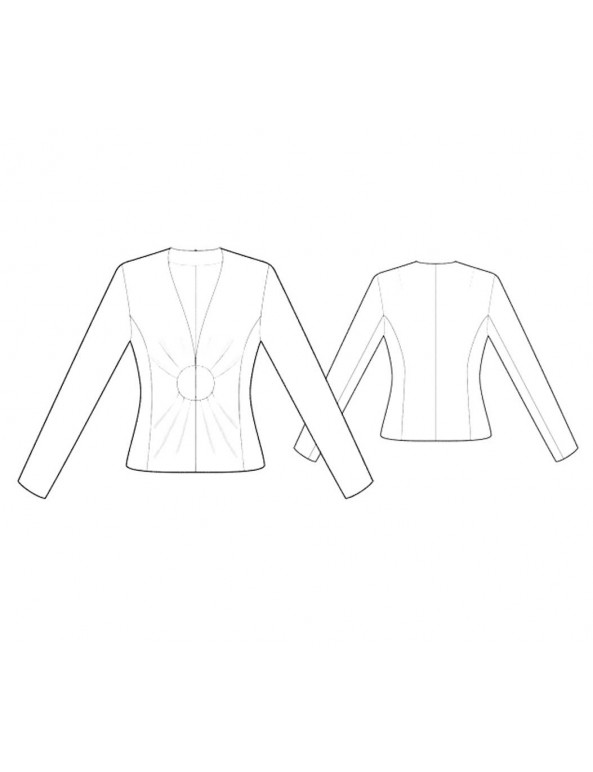 Fashion Designer Sewing Patterns - Fitted Draped Collarless Jacket