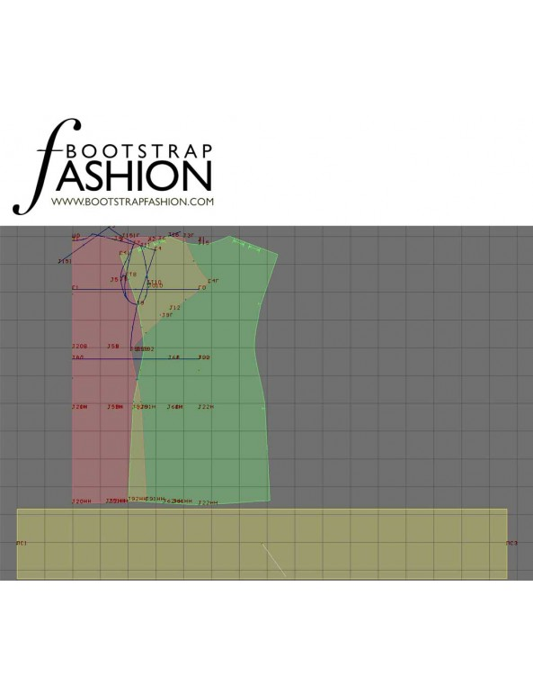 Fashion Designer Sewing Patterns - Low Back Cowl Knit Dress