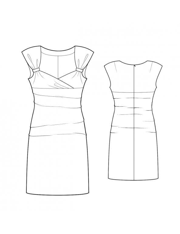 Fashion Designer Sewing Patterns - Sleeveless Sweetheart-Neck Dress