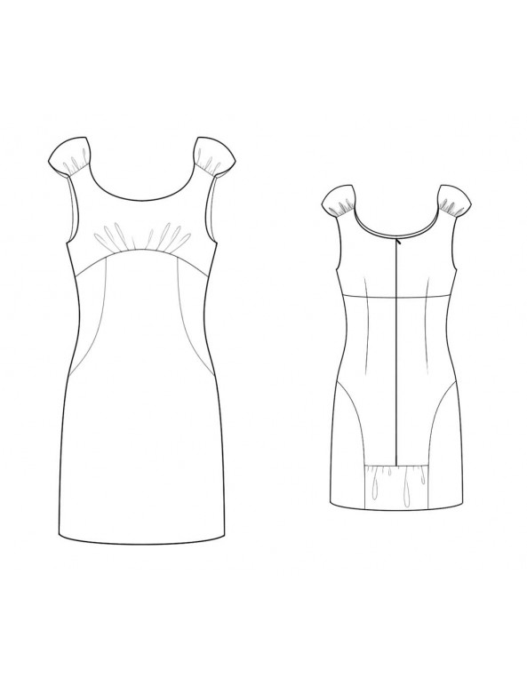 Fashion Designer Sewing Patterns - Empire-Waist Fitted Shift