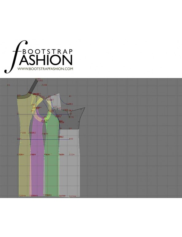Fashion Designer Sewing Patterns - Sleeveless Keyhole-Neck Dress