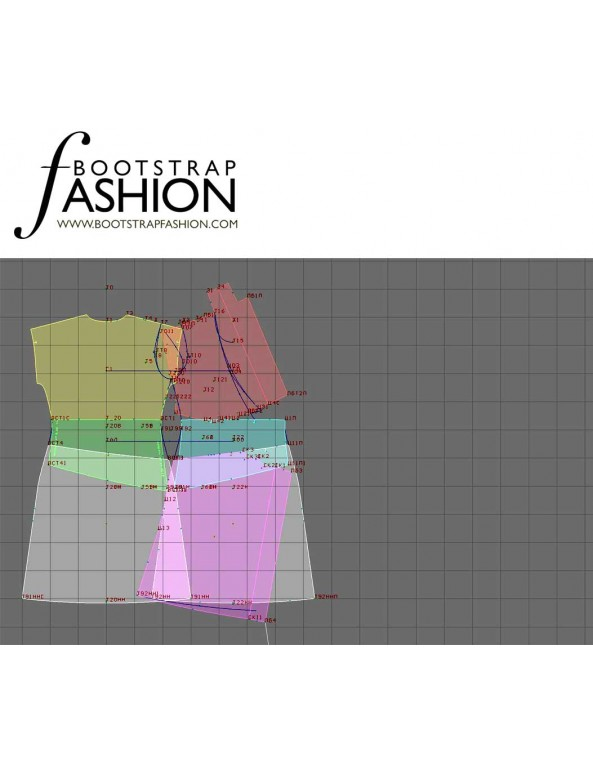 Fashion Designer Sewing Patterns - Wrap Dress with Cummerbund