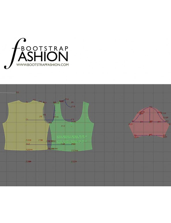 Fashion Designer Sewing Patterns - Scoop-Neck Blouse with Pleats