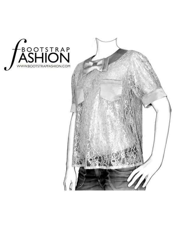 Fashion Designer Sewing Patterns - Cropped Top
