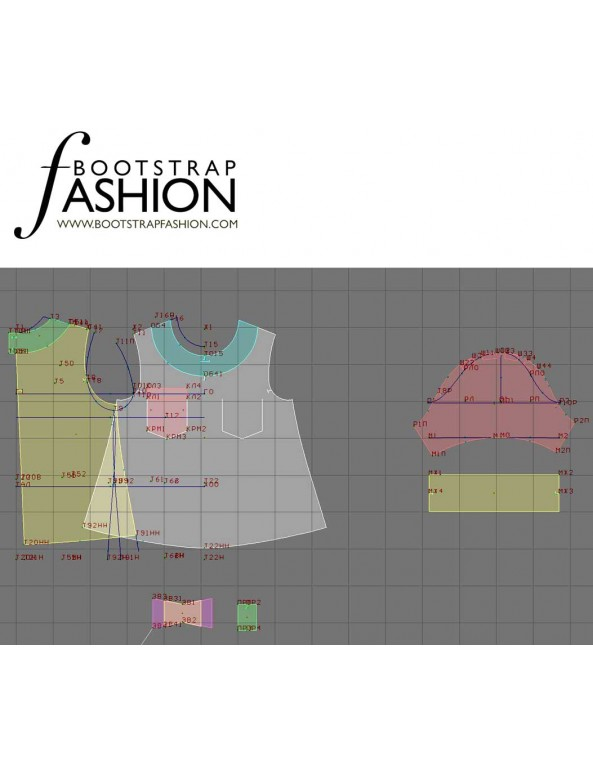 Fashion Designer Sewing Patterns - Cropped Top
