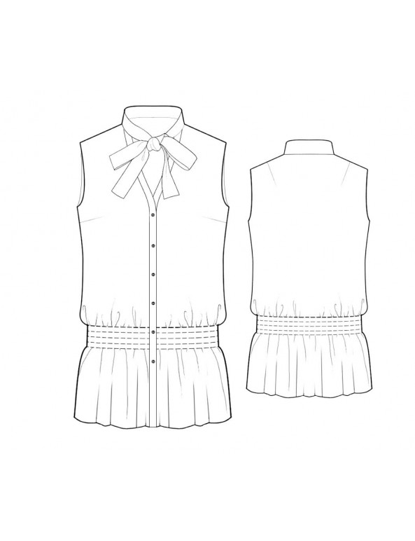 Fashion Designer Sewing Patterns - Peasant Blouson Top