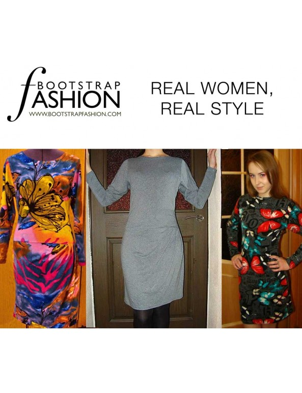 Fashion Designer Sewing Patterns - Dropped-Waist Dress with Dropped Armhole Sleeves