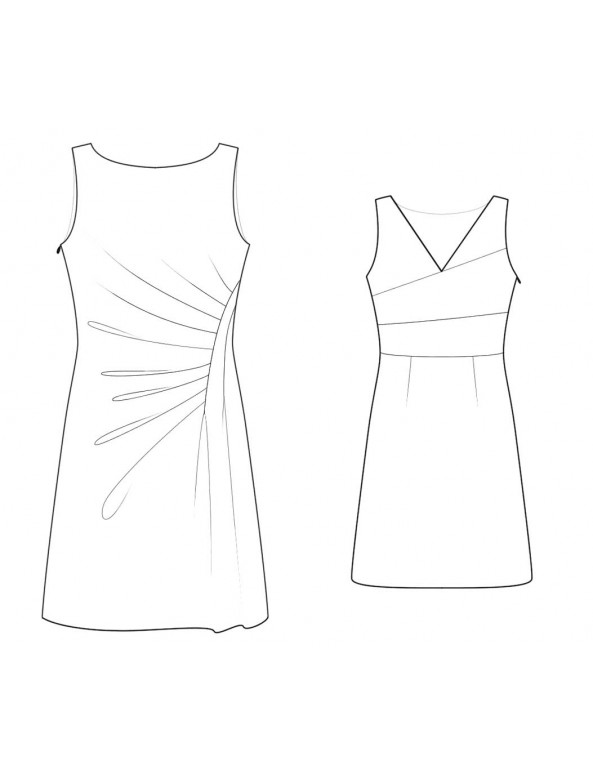 Fashion Designer Sewing Patterns - Boat-Neck Shift with Draping