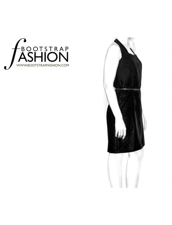 Fashion Designer Sewing Patterns - Fitted Halter Dress
