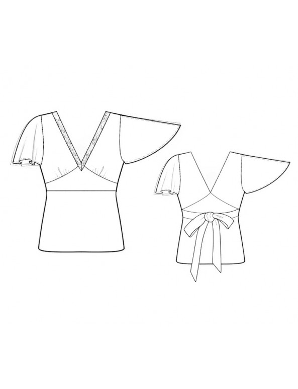 Fashion Designer Sewing Patterns - Flutter Split Sleeves Top