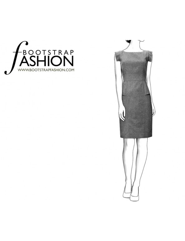 Fashion Designer Sewing Patterns - Structured Sleeveless Dress