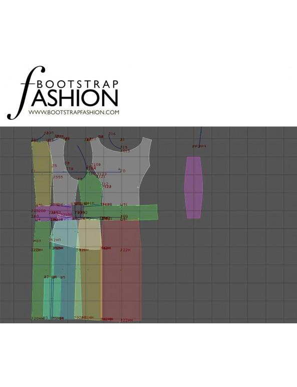 Fashion Designer Sewing Patterns - Structured Sleeveless Dress