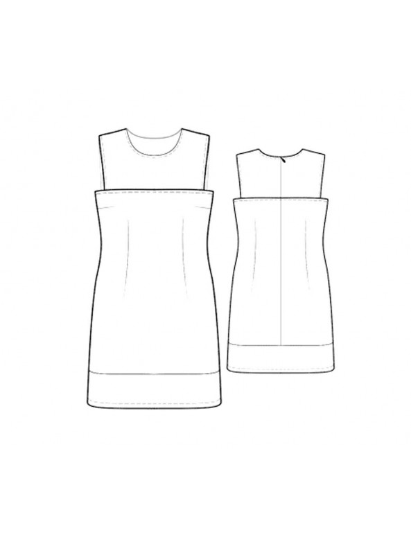 Fashion Designer Sewing Patterns - Sleeveless Three-Panel Dress