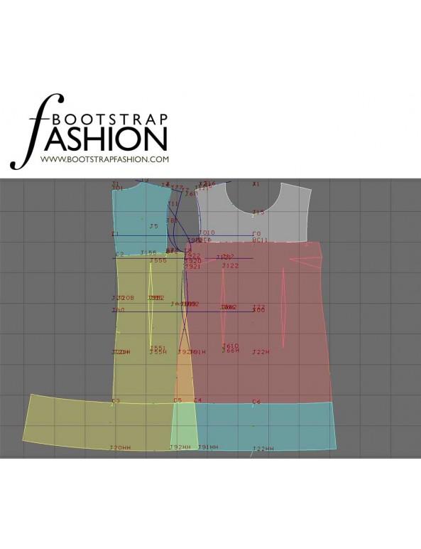 Fashion Designer Sewing Patterns - Sleeveless Three-Panel Dress