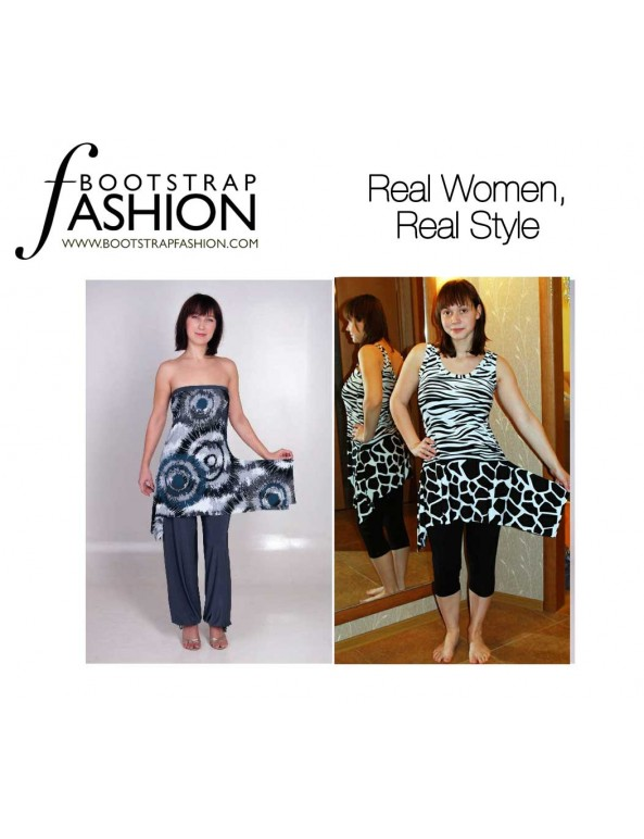 Fashion Designer Sewing Patterns - Sleeveless Scoop-Neck Shift