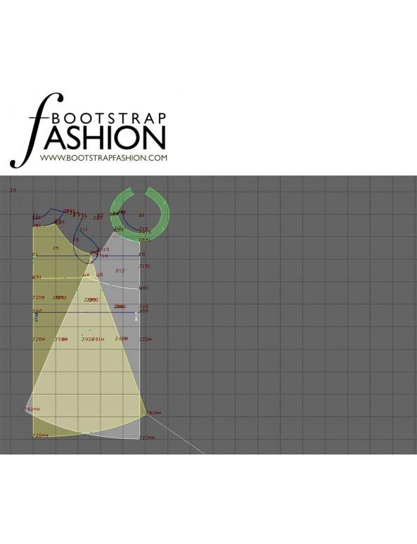 Fashion Designer Sewing Patterns - Sleeveless Empire-Waist Dress