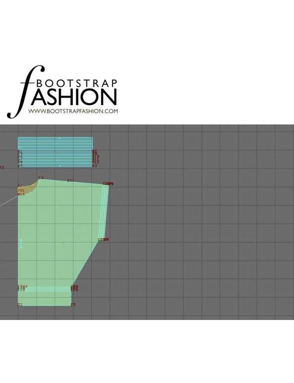 Fashion Designer Sewing Patterns - Batwing Blouson Top