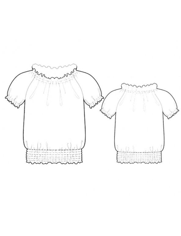 Fashion Designer Sewing Patterns - Peasant Style Top