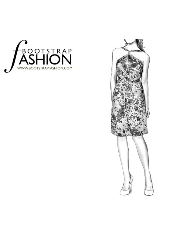 Fashion Designer Sewing Patterns - Convertible Wrap Dress