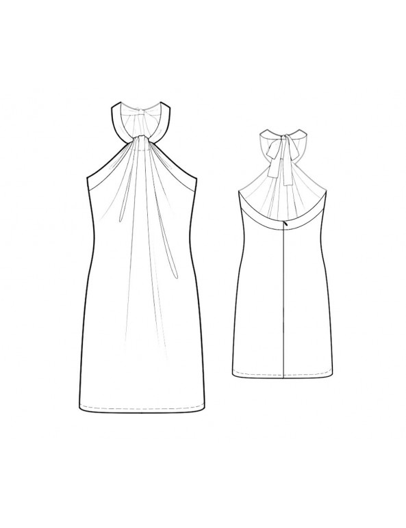 Fashion Designer Sewing Patterns - Gathered Halter Dress