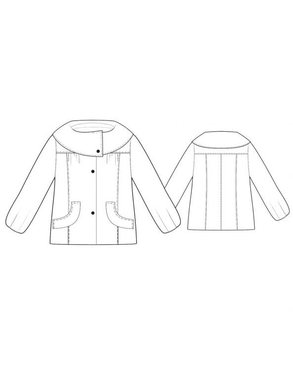 Fashion Designer Sewing Patterns - Turnout Cowl-Collar Short Coat