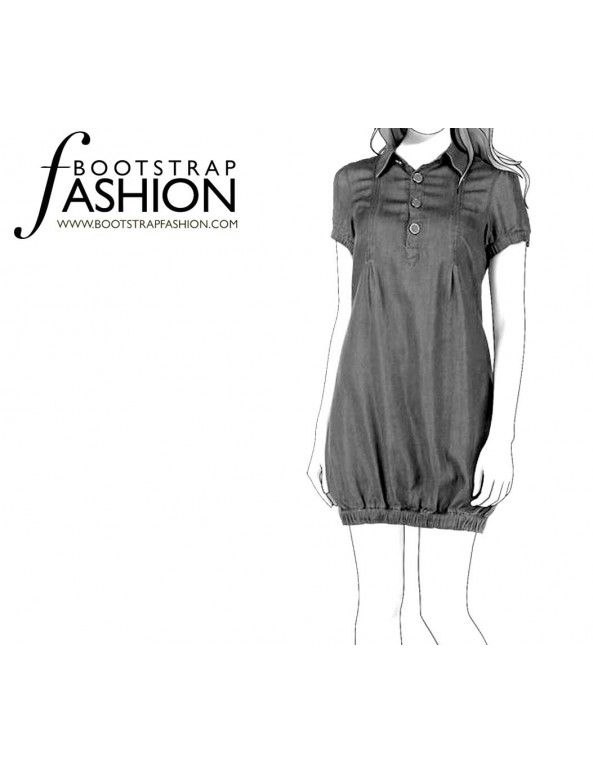 Fashion Designer Sewing Patterns - Shirt Bloomer Dress